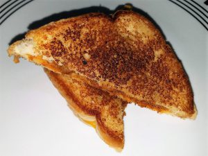 toasted chorizo and cheese sandwich