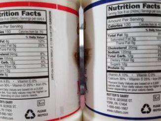 milk ingredient labels