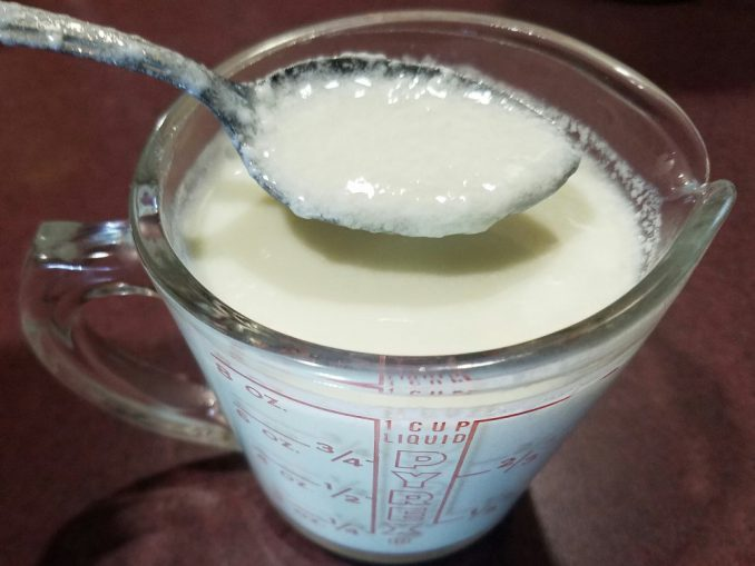 cup of sour milk
