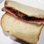 Peanut Butter and Black Raspberry Jelly Sandwich