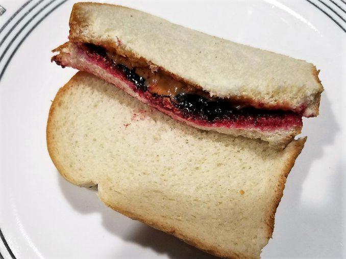 Peanut Butter and Black Raspberry Jelly Sandwich