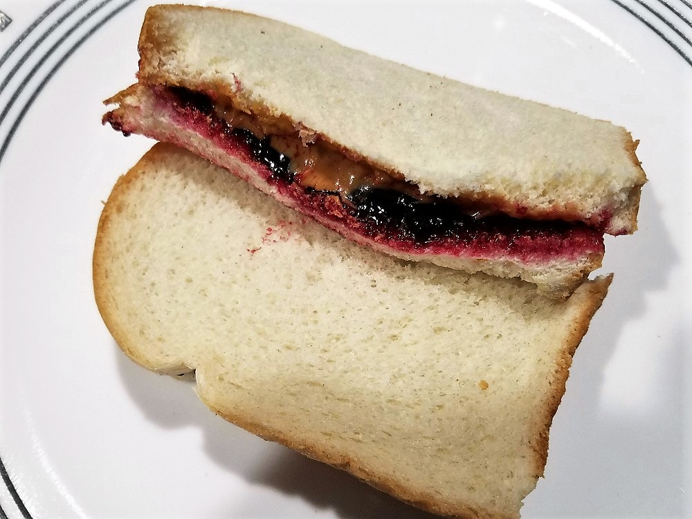 Peanut Butter And Black Raspberry Jelly Sandwich Shawn On Food