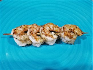 Greek Grilled Shrimp ready to eat
