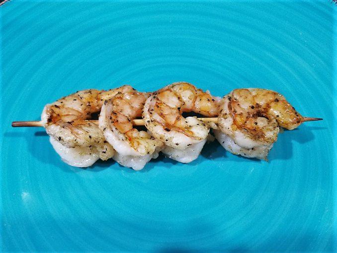 Greek Grilled Shrimp ready to eat