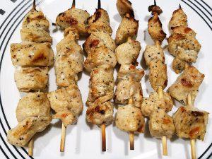 Chicken Souvlaki on skewers