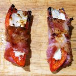 Bacon Wrapped Jalapeno Poppers – grilled