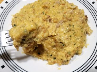 Velveeta Cheesy Chicken Stuffing on a plate