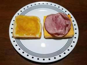 Honey Mustard and Honey Ham Grilled Cheese Sandwich